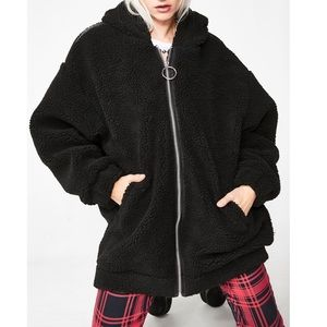 Dollskill Oversized Teddy Bear Jacket